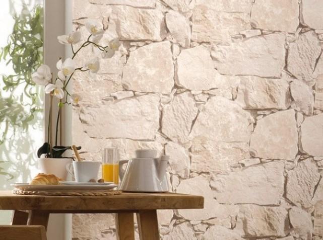 Papier Peint Pierre Blanche : le retour du papier peint trompeur reservoir blog ~ Dailycaller-alerts.com Idées de Décoration